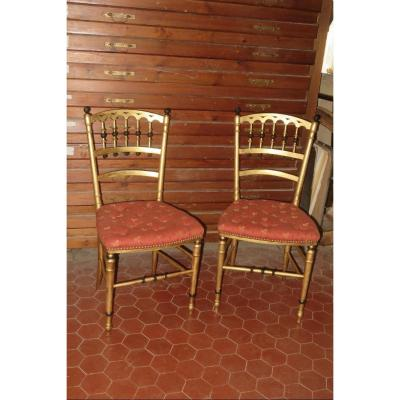 Pair Of Chairs 19th Time, Napoleon III.