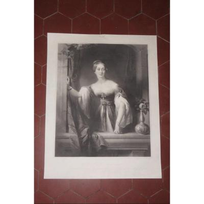 Lady Cust, 19th Century Etching.