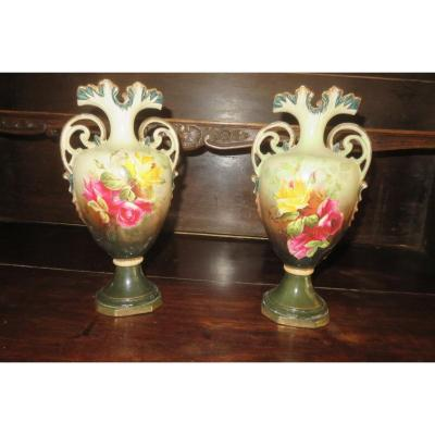 Pair Of Porcelain Vases, Late 19th Time.