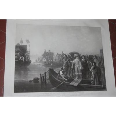 Cinq Mars, Favorite Of King Louis XIII; With Thou, Prisonniers De Richelieu, 19th Century Etching.