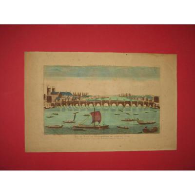 Vue Du Pont De Westminster, Vue d'Optique époque 18ème.