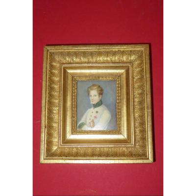 """""""l'aiglon"""", Son Of Napoleon 1st, Hand Painted Miniature, 19th Time."""