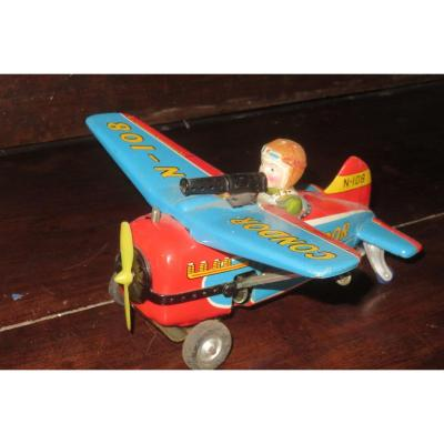Plane, Toy,  Witch  Mechanism, Early 20th Century.
