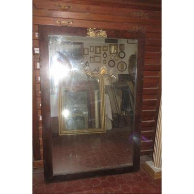 Mercury Mirror With Its Wooden Frame, Early 19th Time.