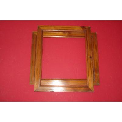 Pair Of Pitchpin Wooden Frames, 19th Time.