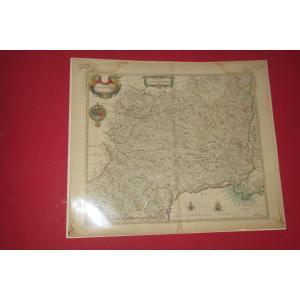 Carte Du Languedoc, époque 17 ème.
