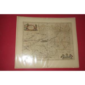 """Carte  """" Le Duche  de Auvergne """",  époque 17 ème."""