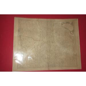 """Carte """" Gouvernements Généraux De La Marche du Limosin et de L' Auvergne  """", époque 18 ème."""