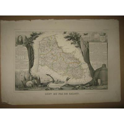 Map Levasseur, 19th, Calais.