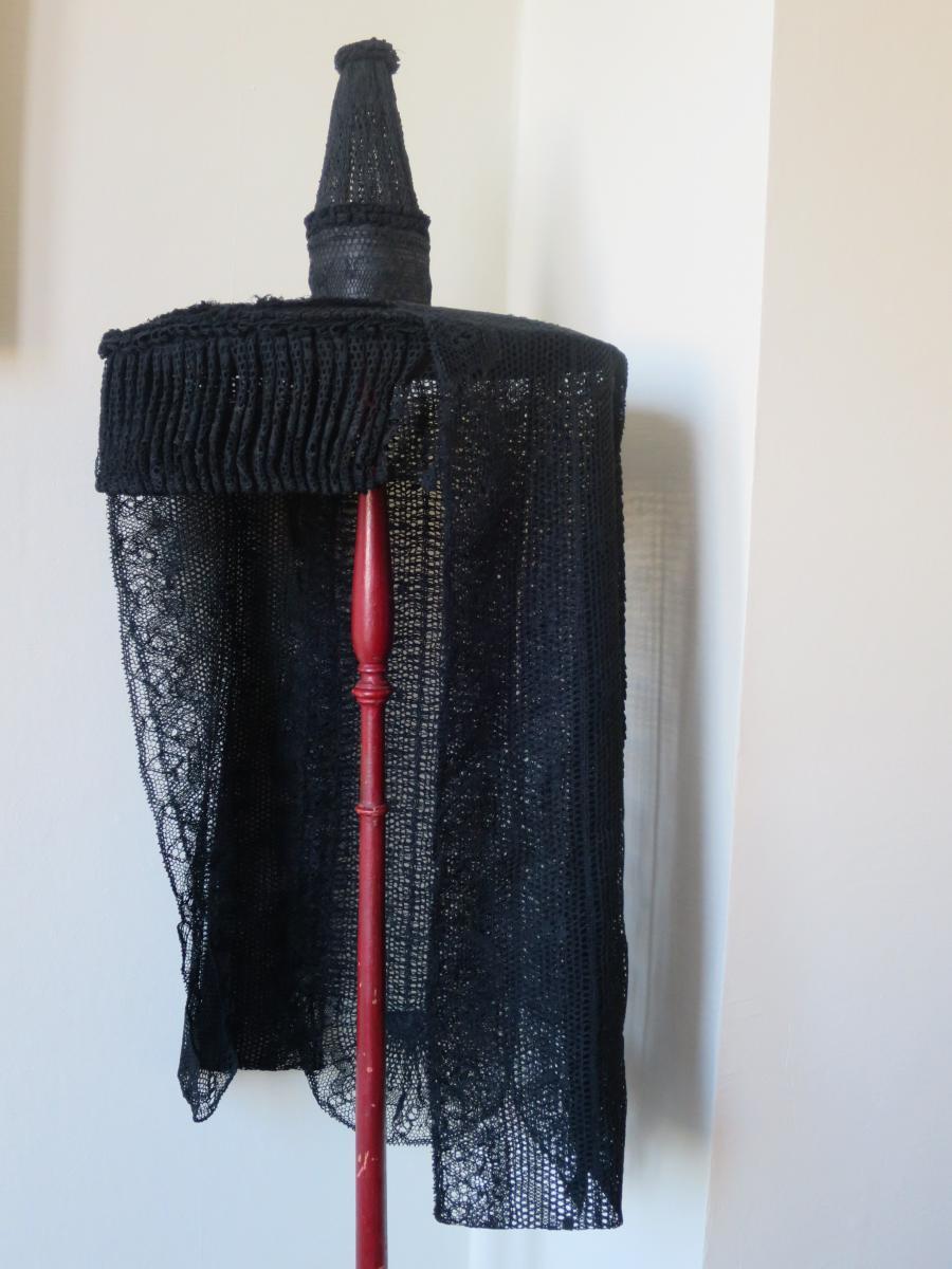 Chapeau de Bressane en dentelle noire, deuxième moitié du XIX°