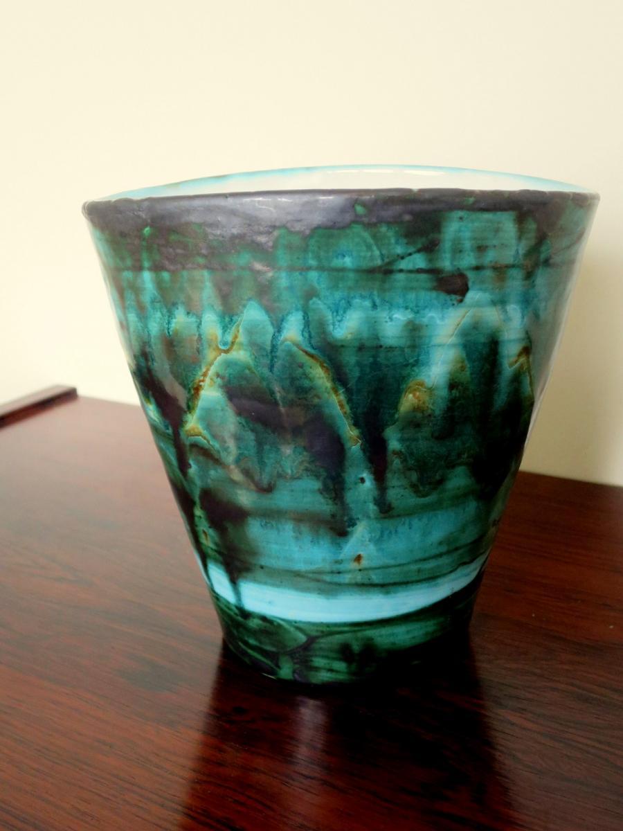 Vase en céramique ALLIX à Vallauris, années1960