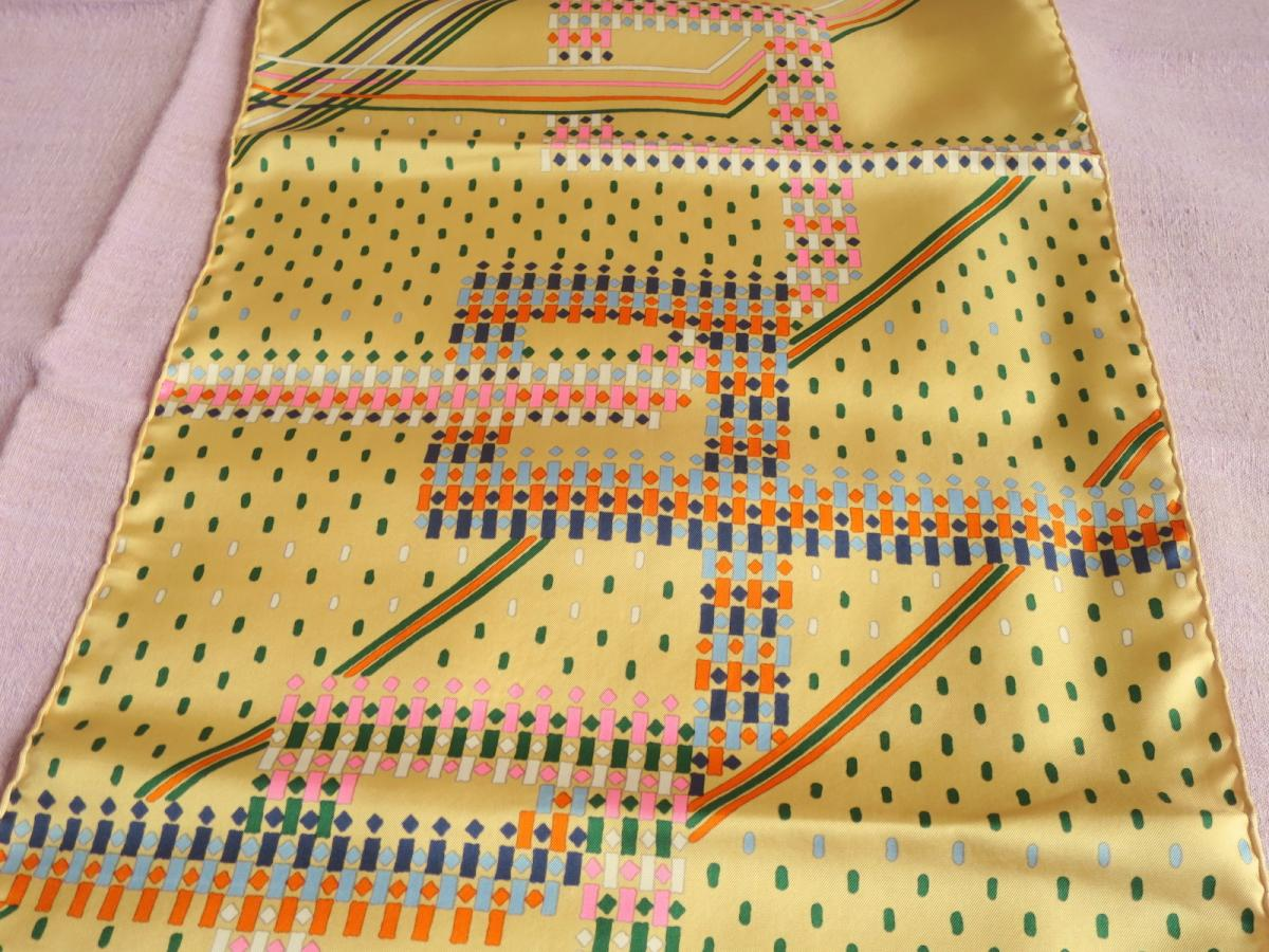 Scarf Christian Dior Vintage Silk Scarf, 70s-photo-3