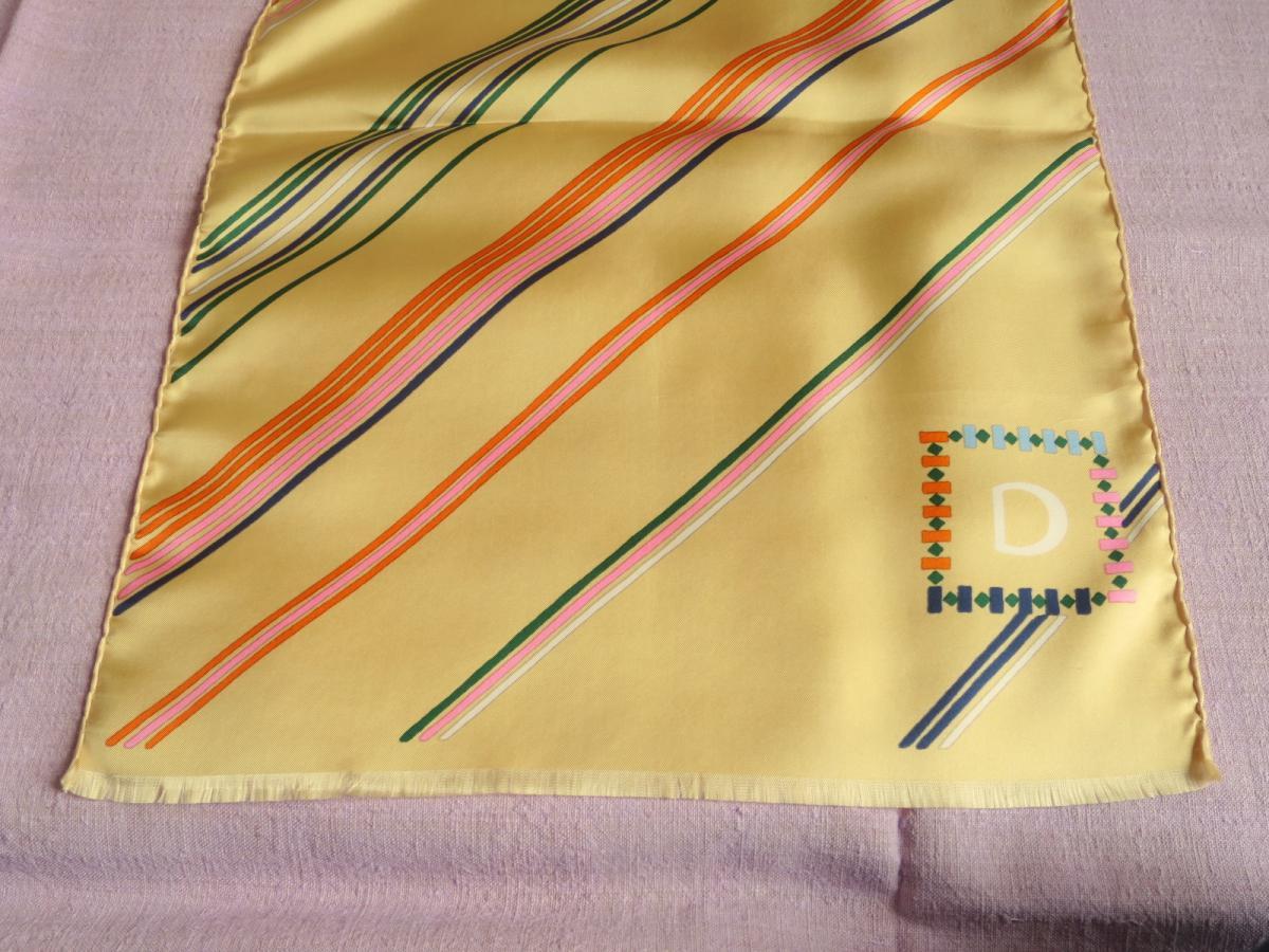 Scarf Christian Dior Vintage Silk Scarf, 70s-photo-4