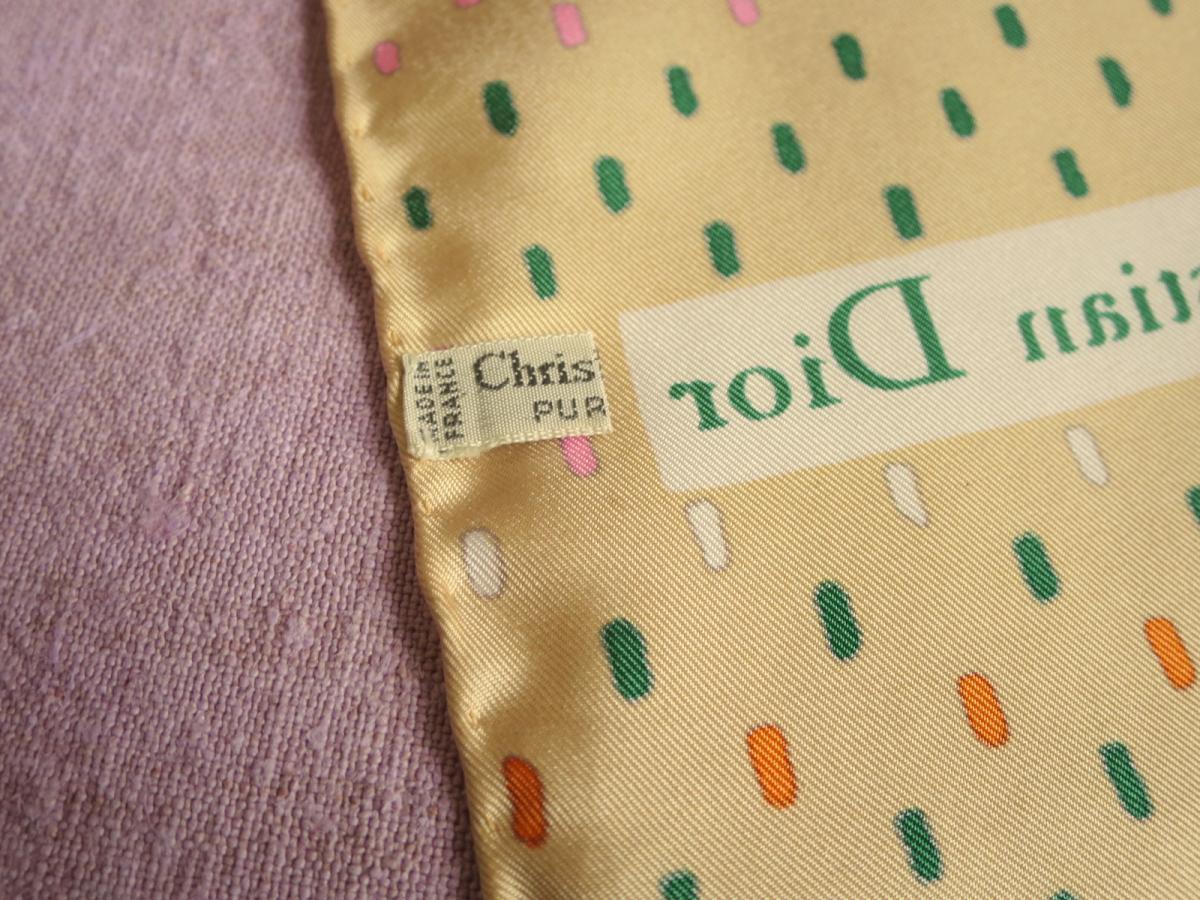 Scarf Christian Dior Vintage Silk Scarf, 70s-photo-2