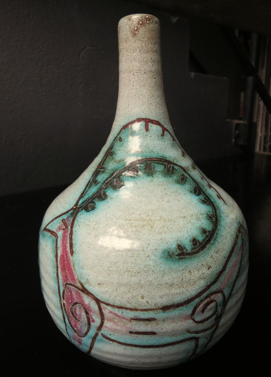 "Vase ACCOLAY ""bouquetins"" vers 1950"