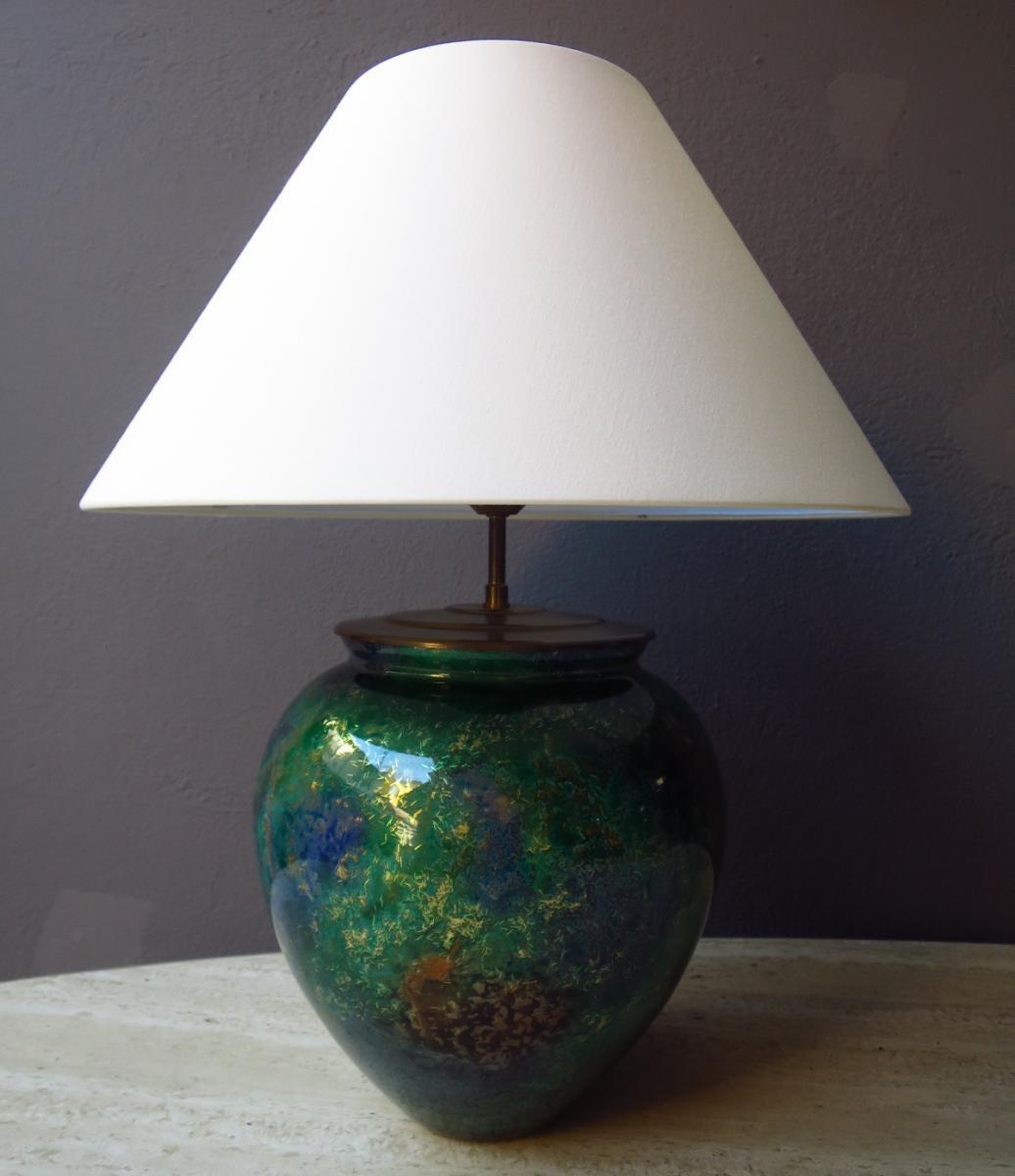 Lampe LAQUE LINE  en verre 1970-1980