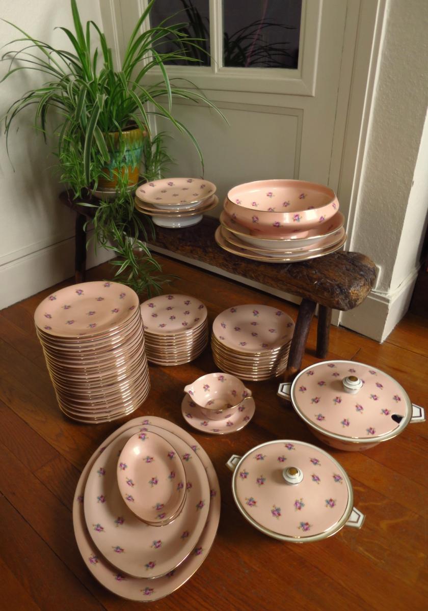 Service de table en porcelaine de Limoges, années 1950