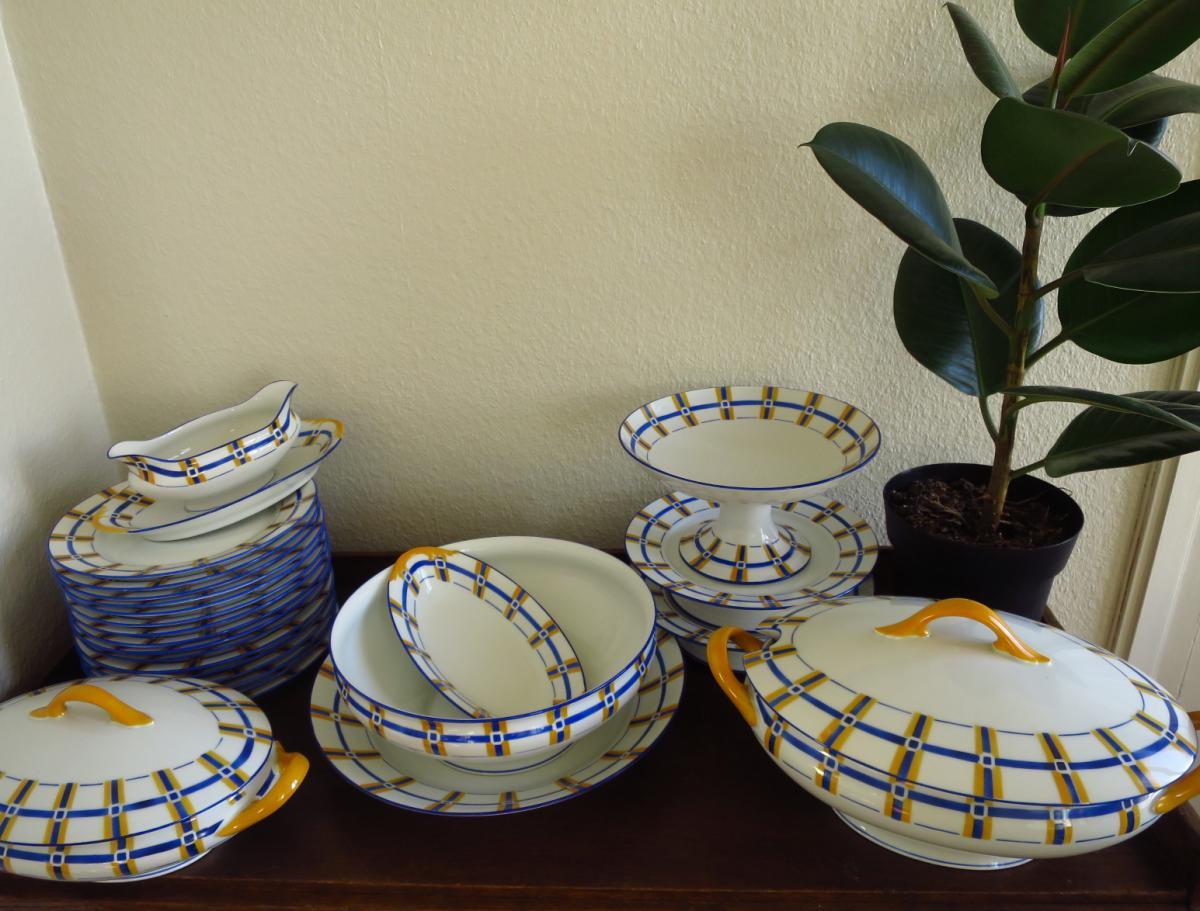 Service de table en porcelaine de Limoges, F. Legrand et Cie, années 1950