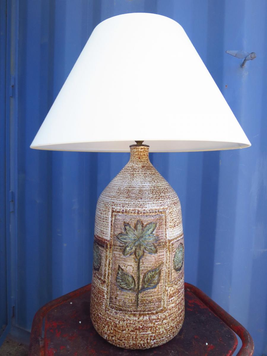 Albert Thiry Ceramic Lamp Circa 1960