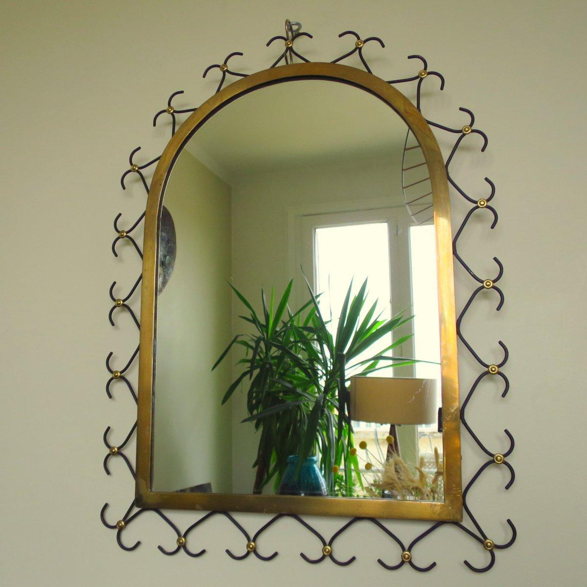 Mirror In The Taste Jean Royère Around 1950