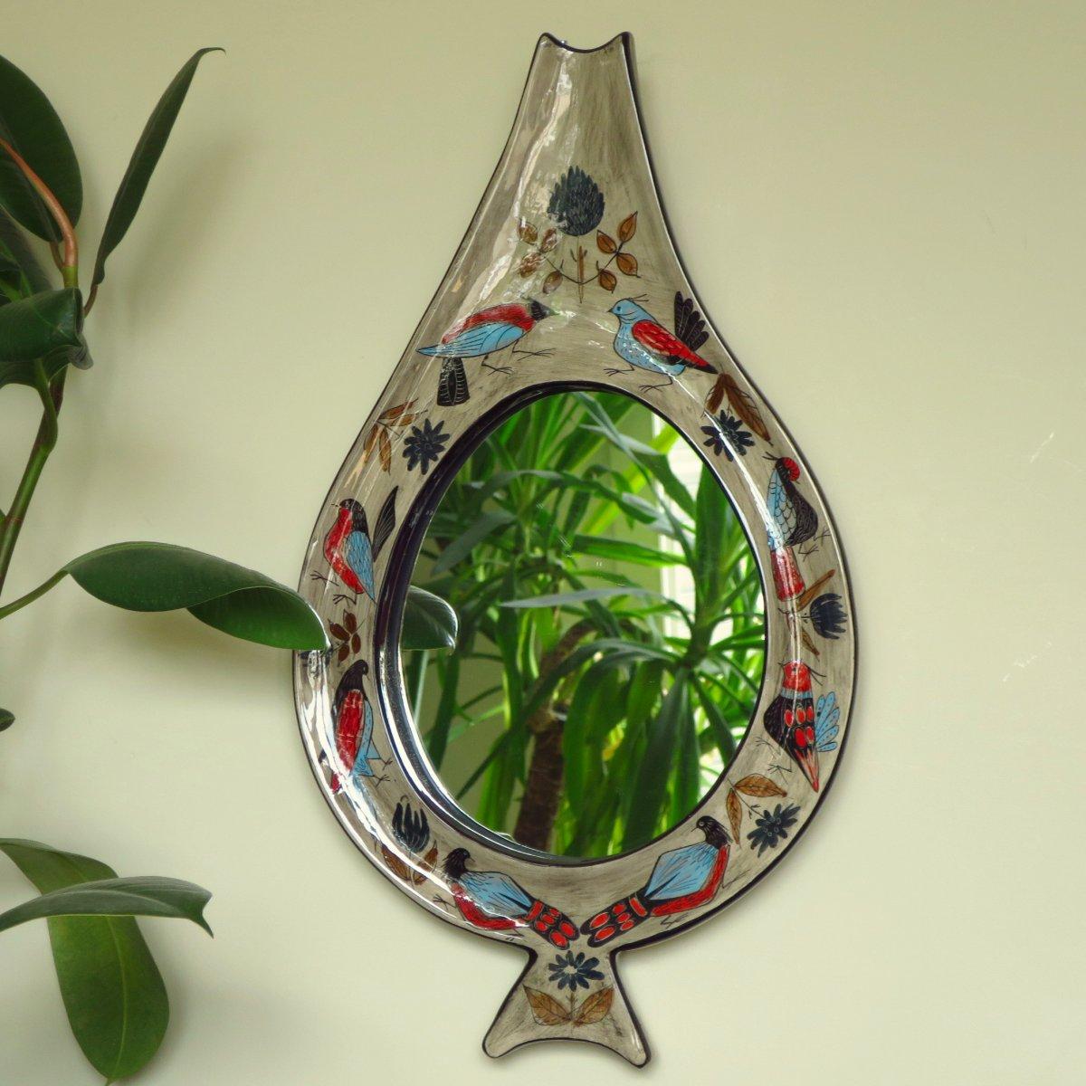 Miroir  céramique de Jean de Lespinasse