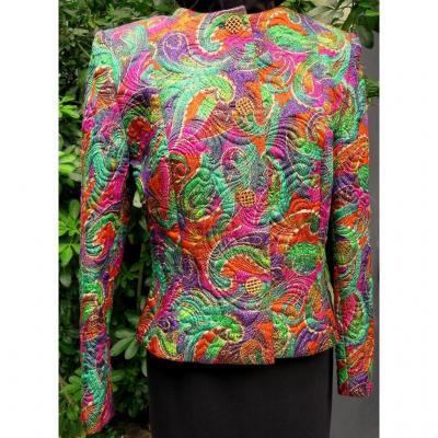 Veste NINA RICCI Paris à motifs cachemires multicolores, taille 44