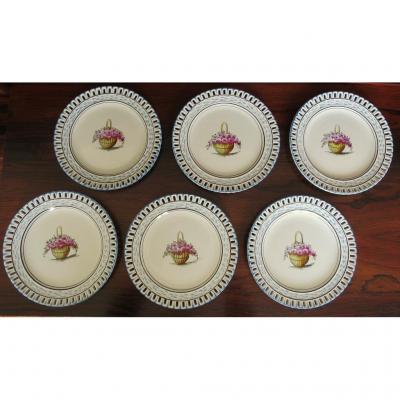 Série de 6 assiettes à dessert ROVINA J-S EPINAL