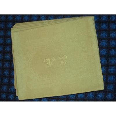 Old Linen Towels In Green Anise Monogrammed Wg