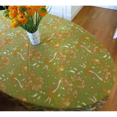 Tablecloth / Cloth Table Mat Late Nineteenth Decor Birds And Flowers