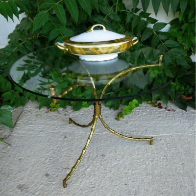 Table guéridon de la Maison Baguès façon bambou