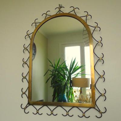 Miroir dans le goût de Jean Royère vers 1950