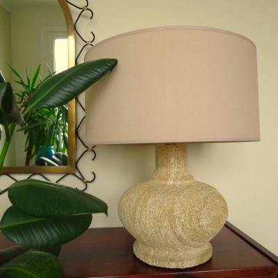 Reconstituted Stone Lamp Circa 1950-1960