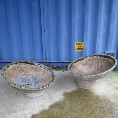 "2 ""adjustable Basins"" Planters By Willy Guhl Circa 1950"