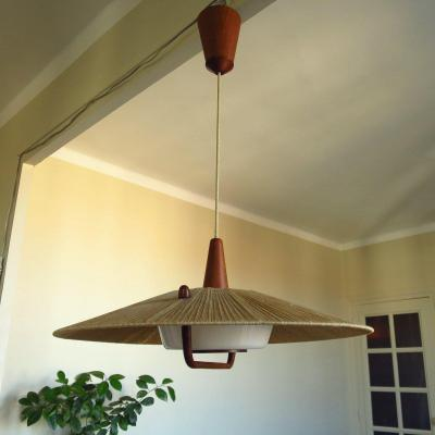 Lustre suspension scandinave circa 1960