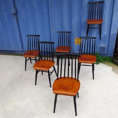Series Of 6 Fanett Chairs By Ilmari Tapiovaara