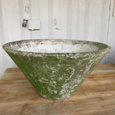 Large Conical Planter By Willy Guhl Around 1950