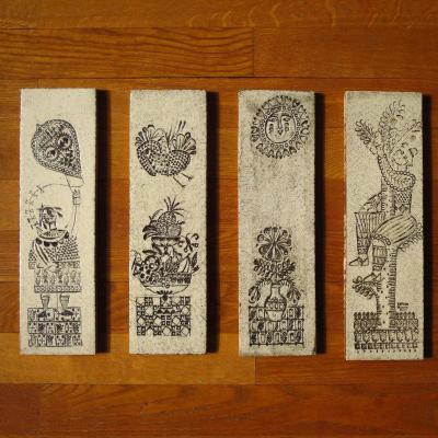 Set Of 4 Ceramic Tiles By Roger Capron
