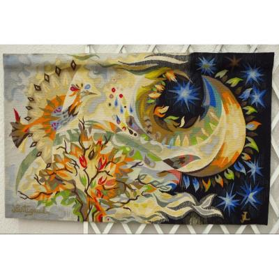 """Aubusson Tapestry By Jm Lartigaud """"soon The Night"""""""
