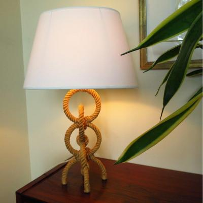 Lamp In The Taste Of Audoux Minet In Rope Circa 1950