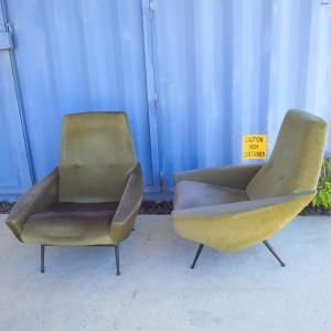 Pair Of Armchairs By Guy Besnard Around 1960