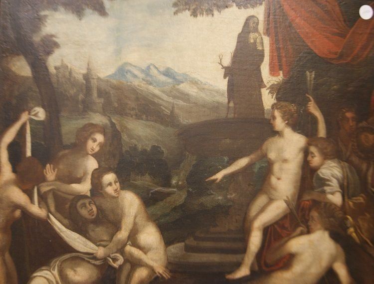 Splendid Oil On English Canvas From The First Half Of The 1700s Representative-photo-2