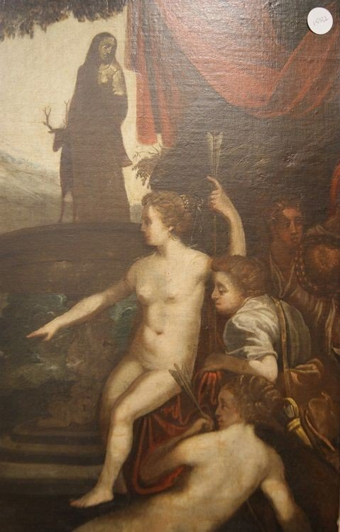 Splendid Oil On English Canvas From The First Half Of The 1700s Representative-photo-4