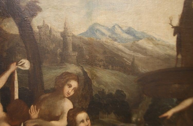 Splendid Oil On English Canvas From The First Half Of The 1700s Representative-photo-1