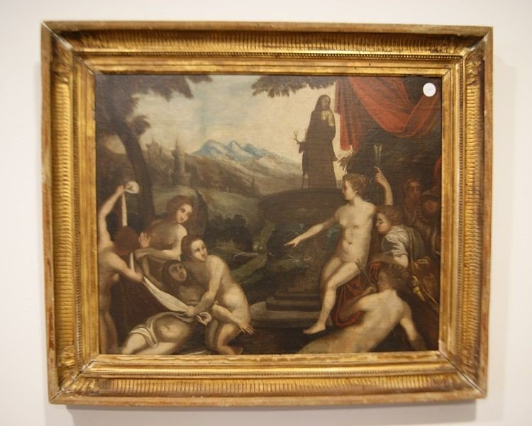 Splendid Oil On English Canvas From The First Half Of The 1700s Representative
