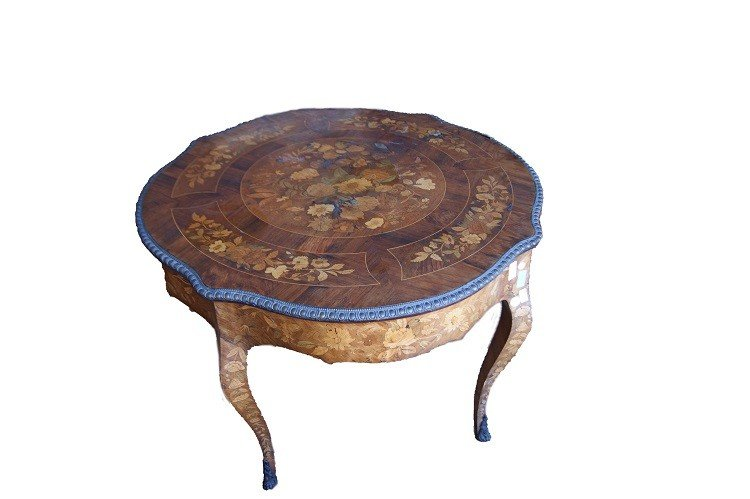 Superb Dutch Table From The 1700s Richly Inlaid-photo-2