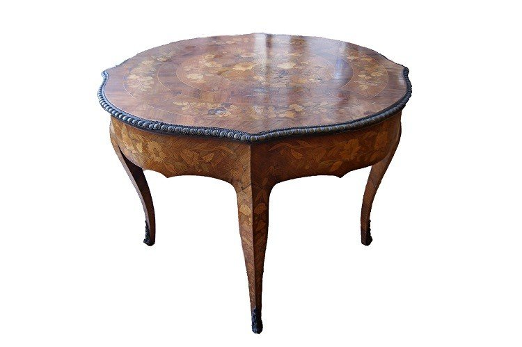 Superb Dutch Table From The 1700s Richly Inlaid-photo-3