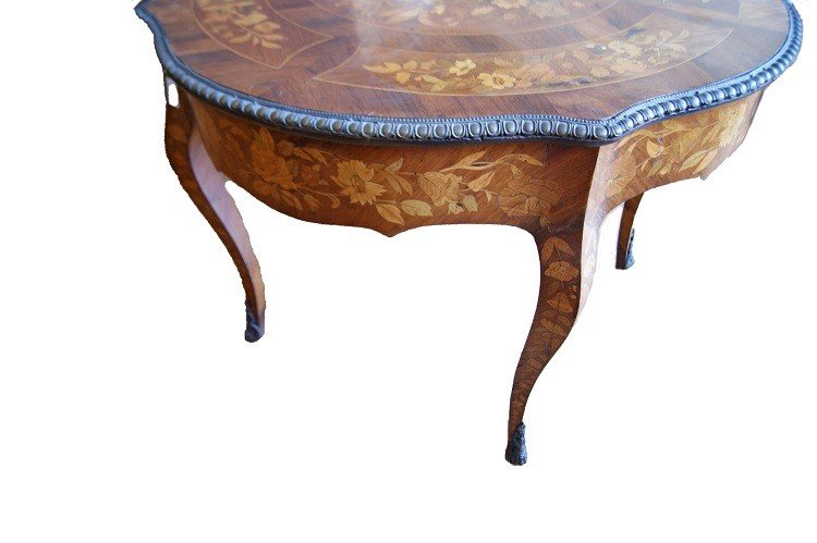 Superb Dutch Table From The 1700s Richly Inlaid-photo-4