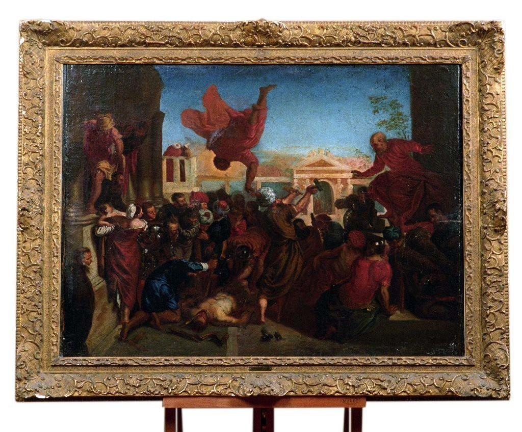 Italian Oil On Canvas From The 1700s Representing The