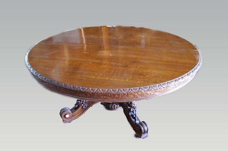 Table à Rallonges De Style Louis Philippe En Chêne