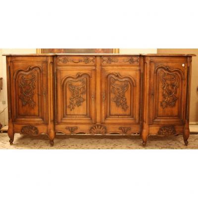 Large Carved Buffet, France Provence Oak, 1800s